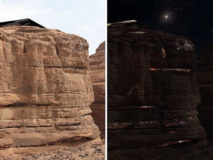 Khách sạn ẩn mình trong núi đá sa thạch cổ - Ảnh 10.