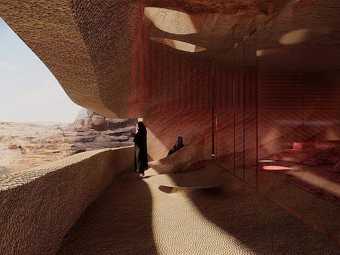 Khách sạn ẩn mình trong núi đá sa thạch cổ - Ảnh 14.