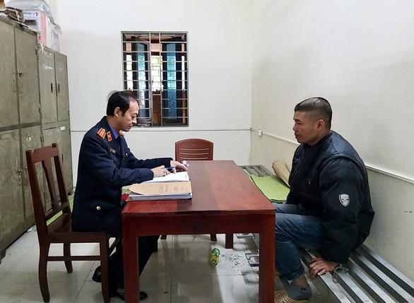 Đối tượng Nguyễn Anh Đức xác nhận hành vi tại Viện kiểm sát nhân dân huyện Tiên Du