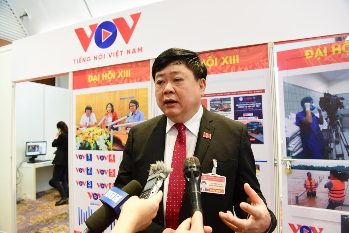 """Tổng Giám đốc VOV Nguyễn Thế Kỷ: """"Đại hội Đảng lần thứ XIII là đại hội của đổi mới"""" - Ảnh 1."""