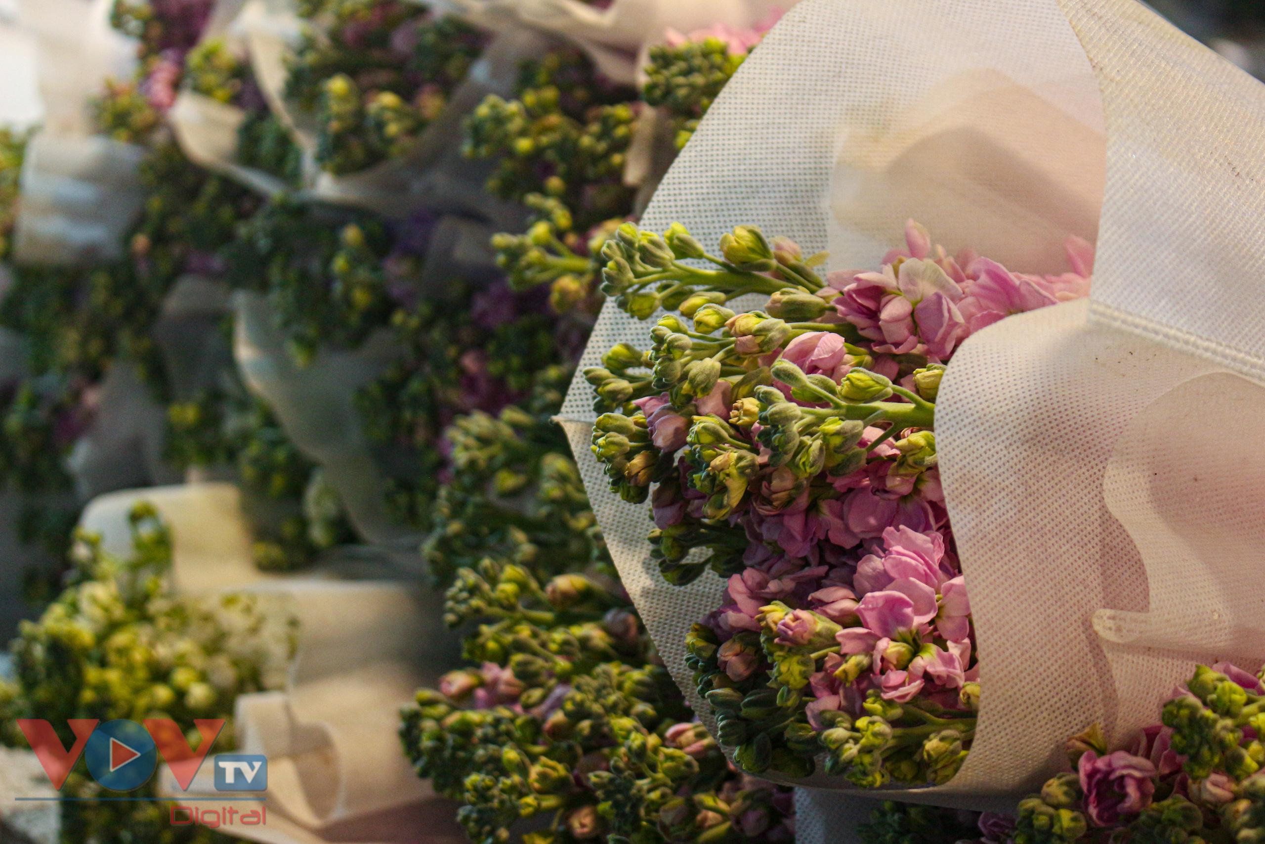 Chợ hoa Quảng An tất bật trong đêm những ngày cận Tết - Ảnh 11.