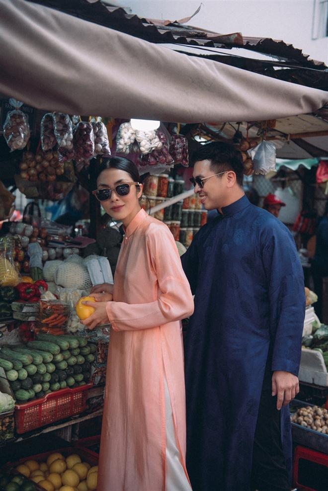 Tăng Thanh Hà diện áo dài sánh bước cùng người mẫu Quang Tuyến - Ảnh 5.