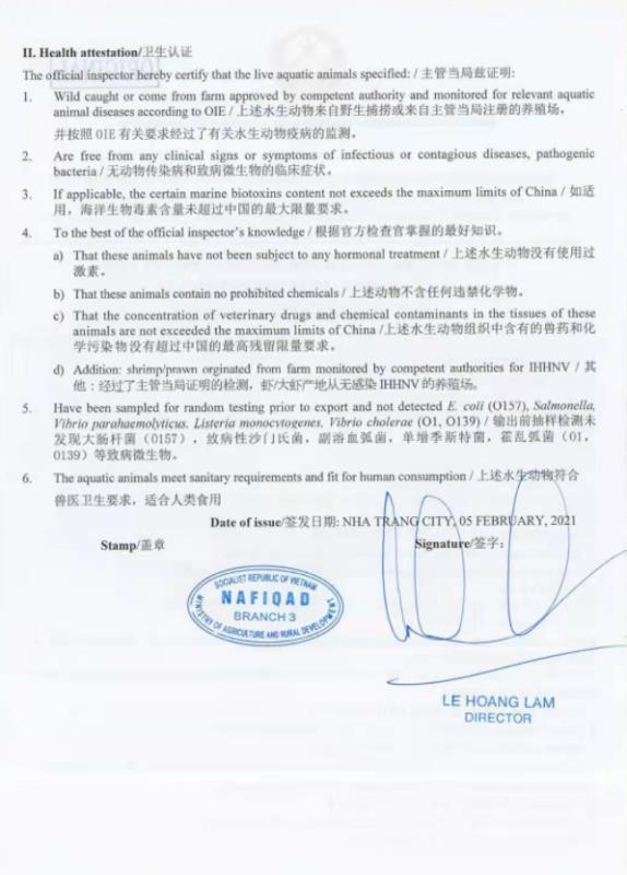 Công ty TNHH Linh Phát (Khánh Hòa) có làm trái Thông tư 48 về thẩm định chất lượng tôm hùm xuất khẩu sang Trung Quốc? - Ảnh 6.