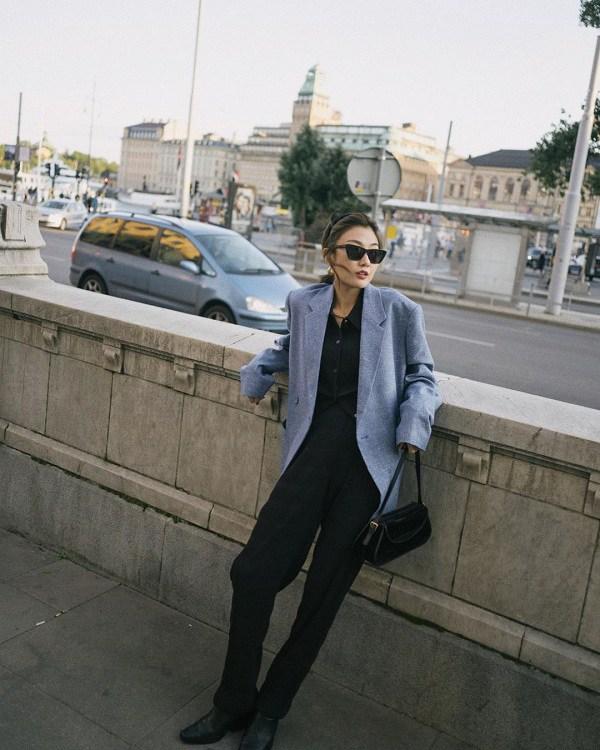 10 set đồ sang chảnh của sao Hàn, nàng mặc đẹp ngày Hà Nội mưa lạnh - Ảnh 14.
