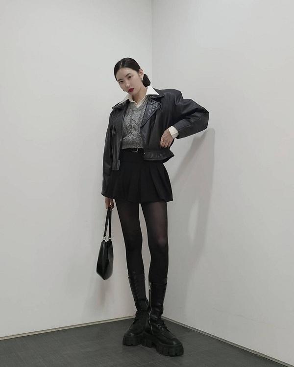 10 set đồ sang chảnh của sao Hàn, nàng mặc đẹp ngày Hà Nội mưa lạnh - Ảnh 6.
