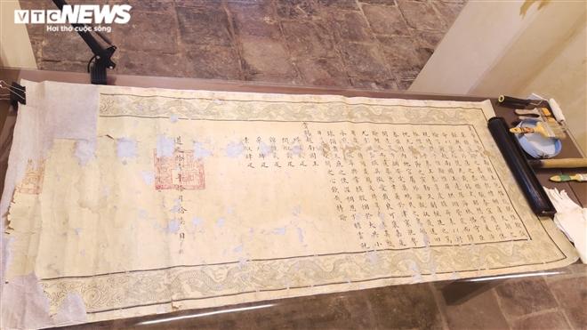 Ảnh: Cận cảnh thư tịch cổ trong kho lưu trữ tài liệu quốc gia triều Nguyễn - Ảnh 10.