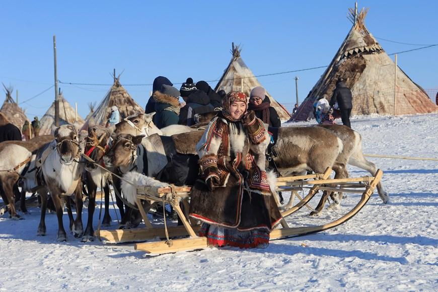 Rực rỡ sắc màu lễ hội người chăn hươu phương Bắc Nga - Ảnh 5.