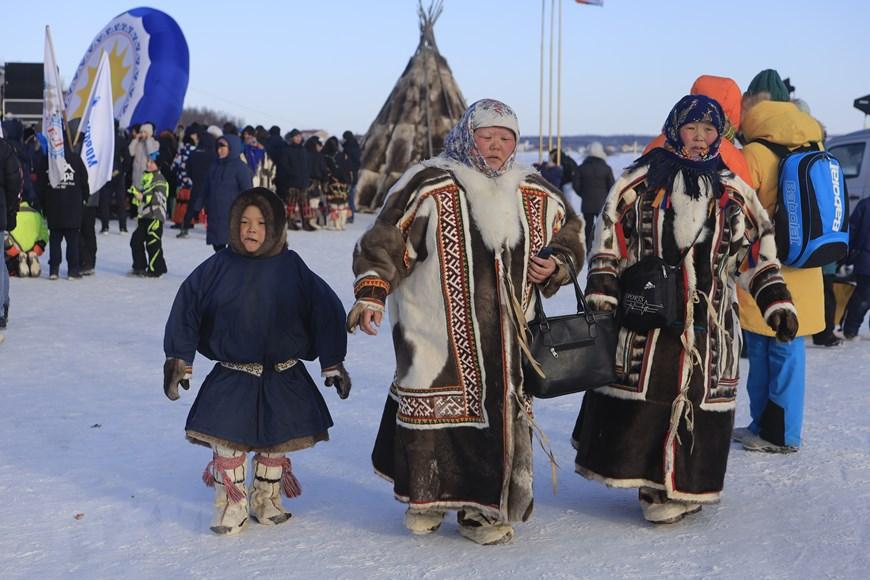 Rực rỡ sắc màu lễ hội người chăn hươu phương Bắc Nga - Ảnh 4.