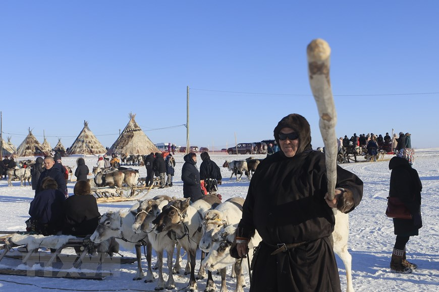 Rực rỡ sắc màu lễ hội người chăn hươu phương Bắc Nga - Ảnh 9.
