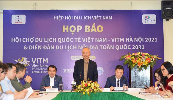 350 gian hàng tại Hội chợ Du lịch quốc tế Việt Nam - VITM Hà Nội 2021 - Ảnh 1.