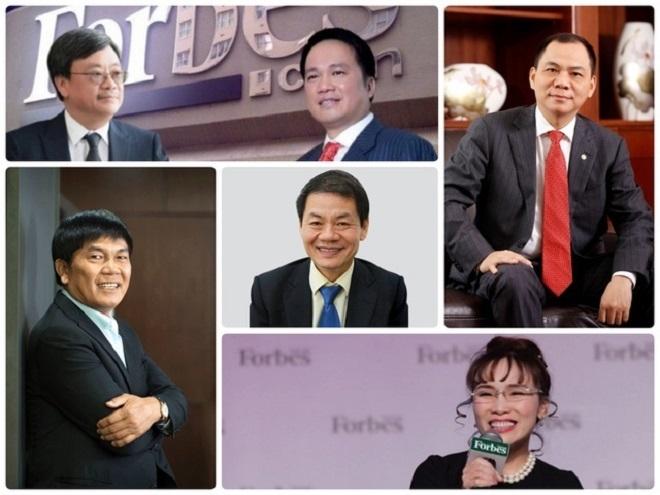 Forbes: Việt Nam có 6 tỷ phú USD 2021 - Ảnh 2.