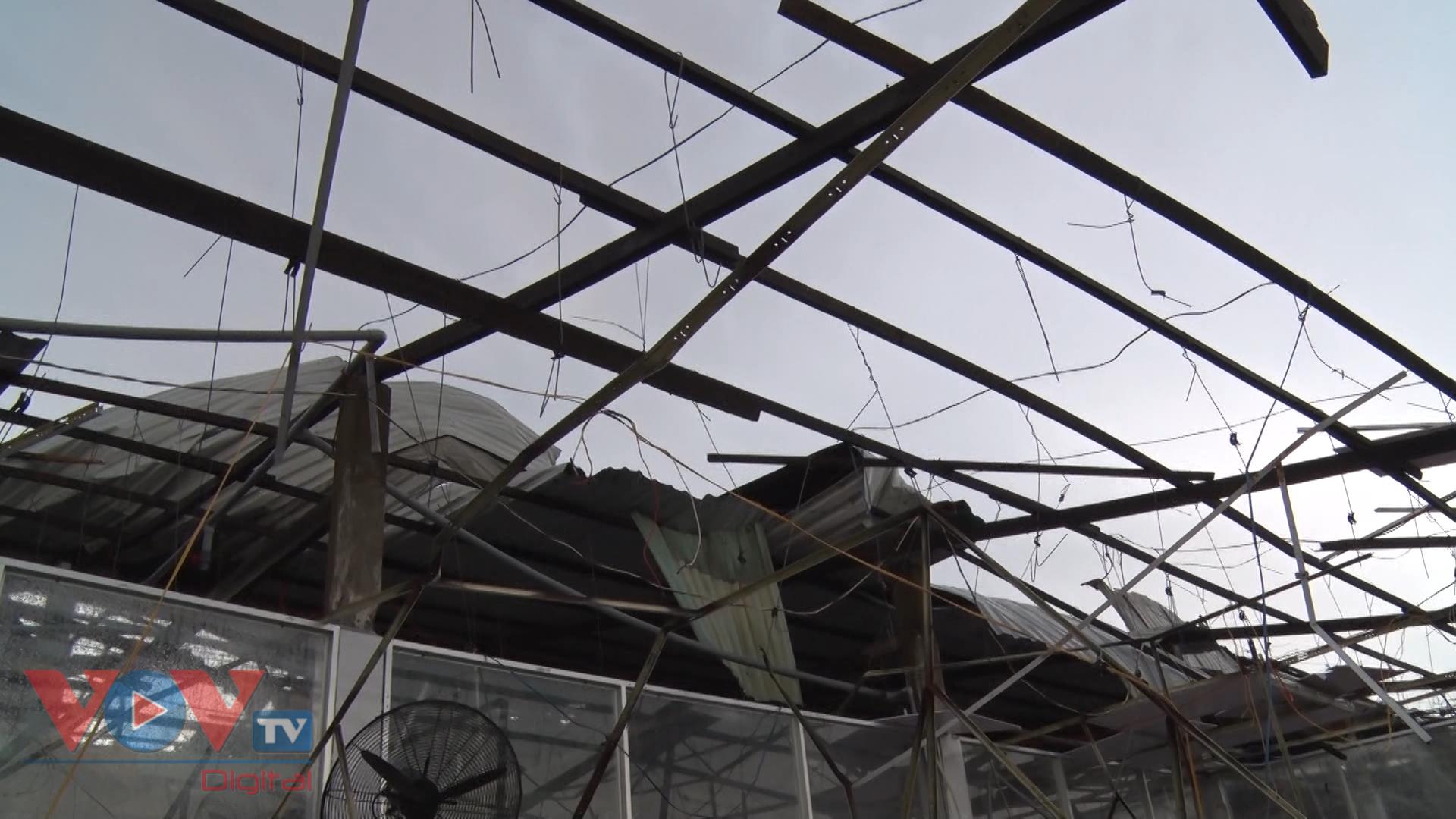 Lốc xoáy gây thiệt hại ở thị xã Long Mỹ, tỉnh Hậu Giang.bmp