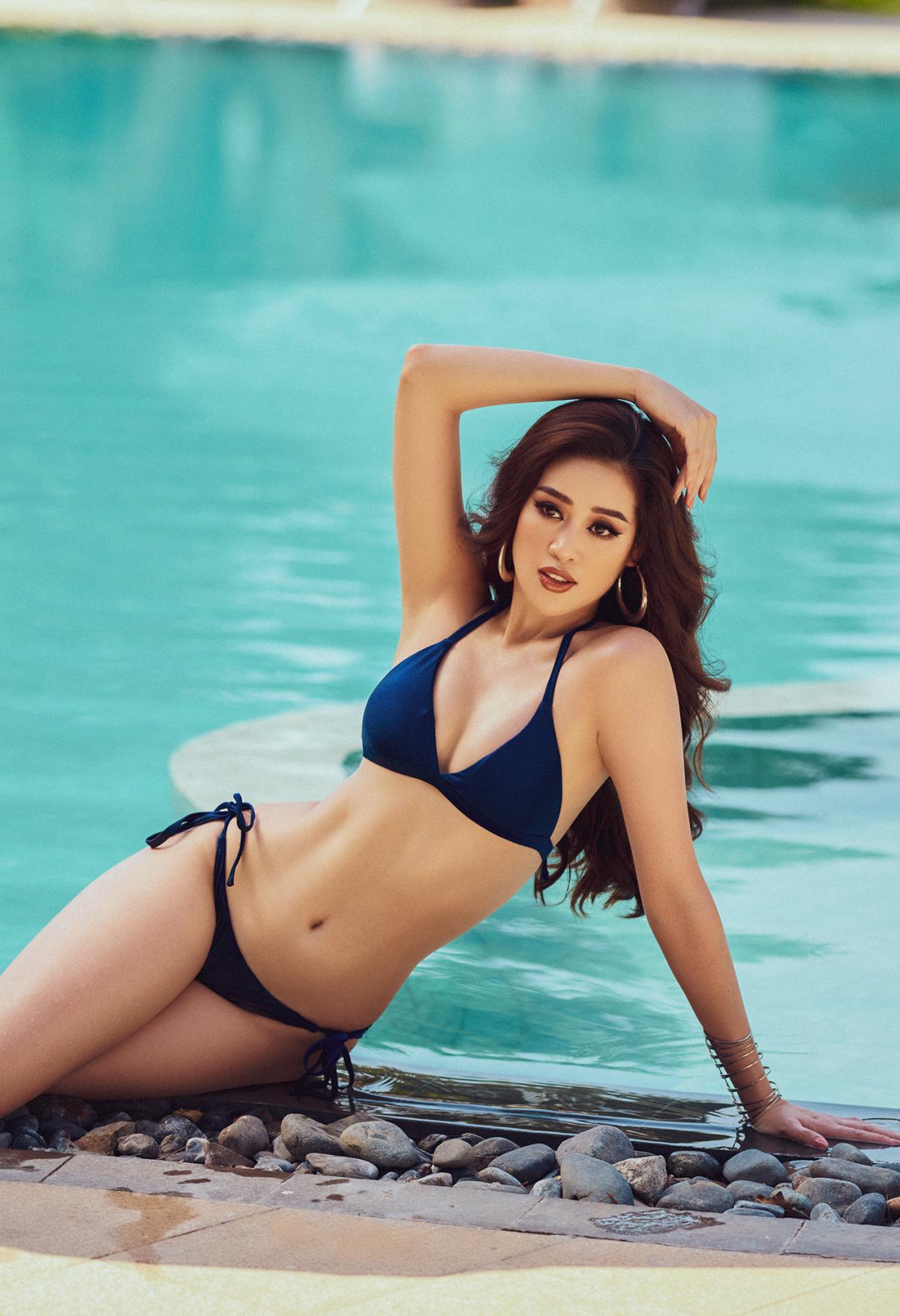 Mãn nhãn bộ ảnh bikini nóng bỏng của Hoa hậu Khánh Vân tại hồ bơi - Ảnh 3.
