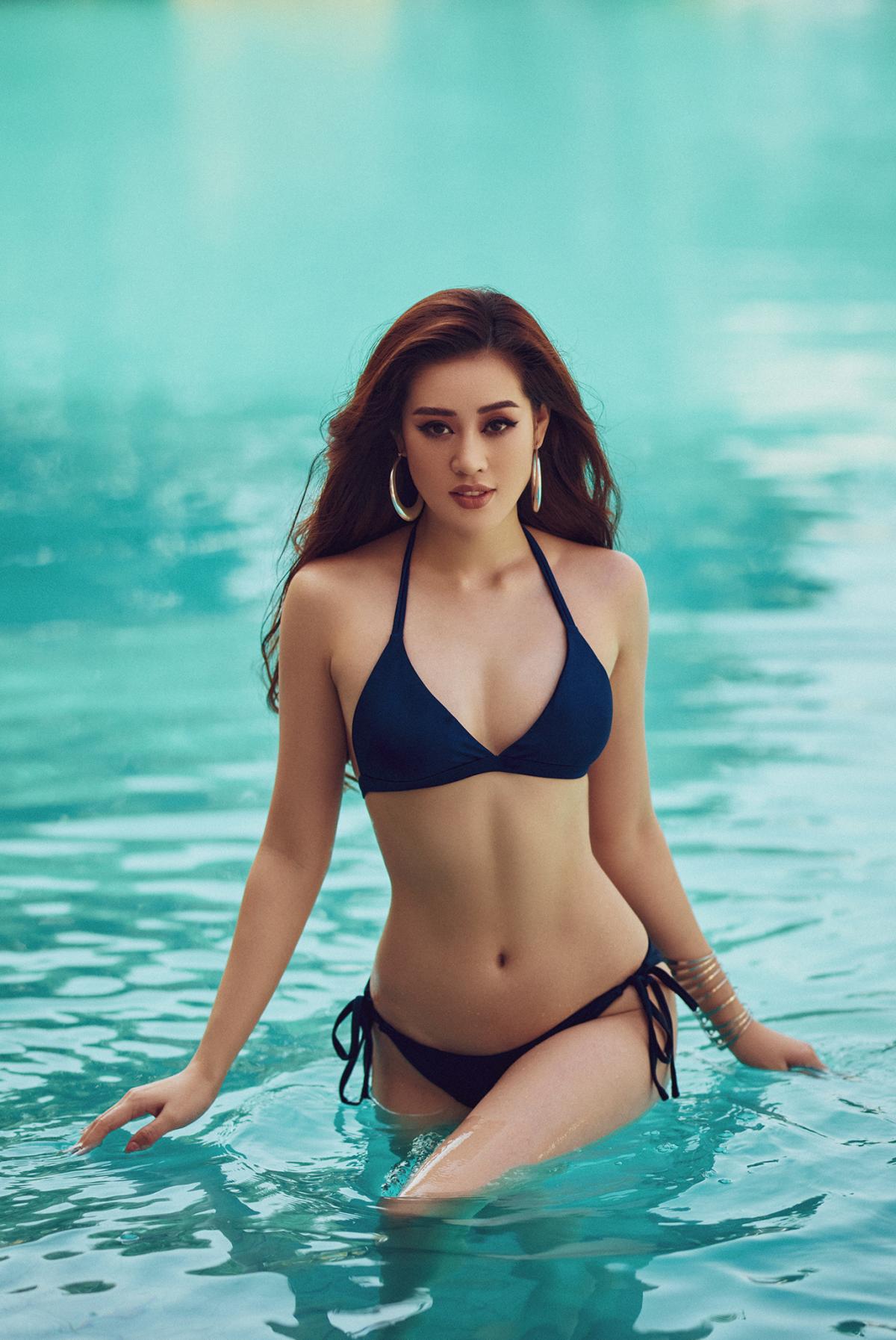Mãn nhãn bộ ảnh bikini nóng bỏng của Hoa hậu Khánh Vân tại hồ bơi - Ảnh 9.