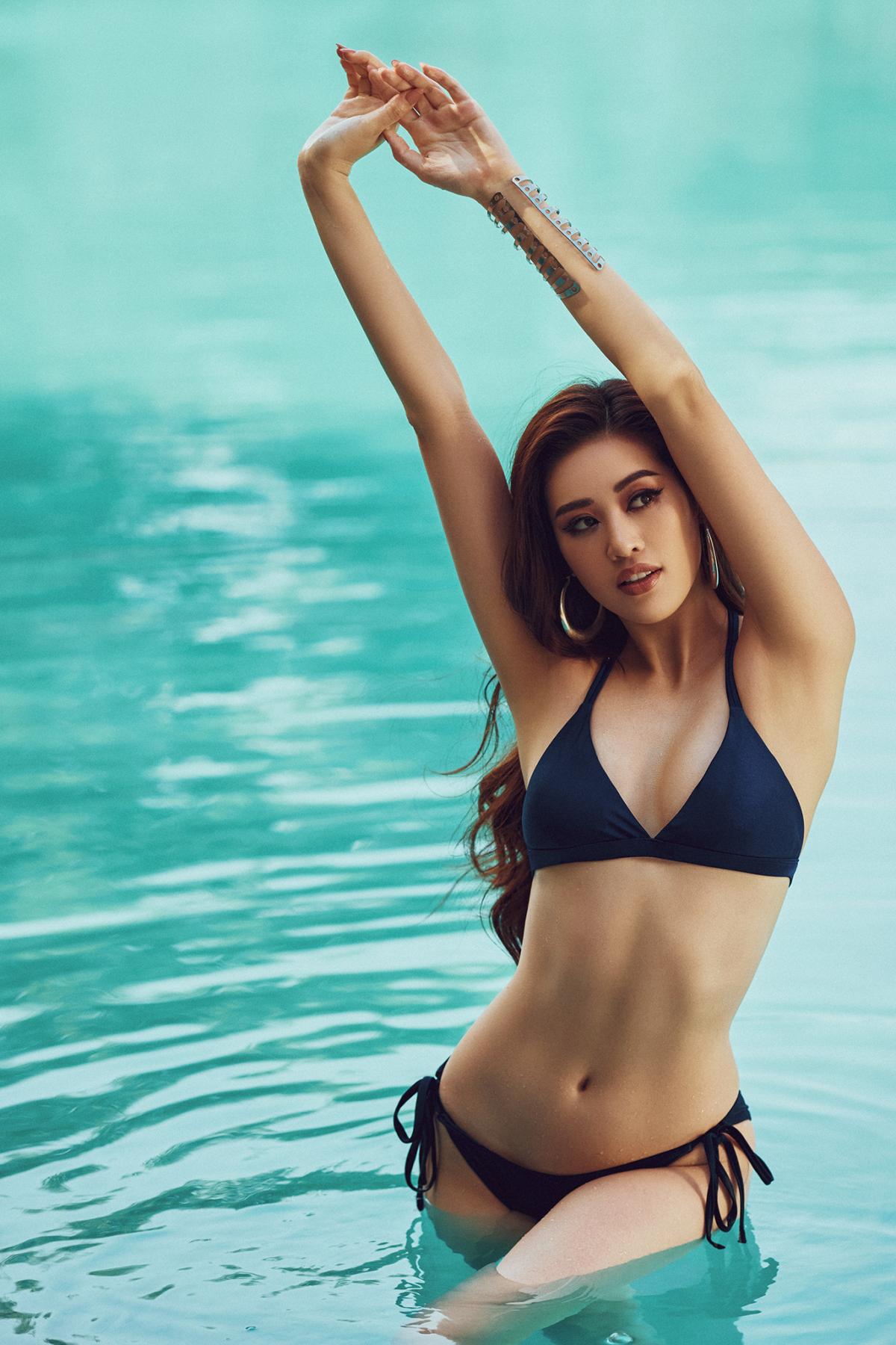 Mãn nhãn bộ ảnh bikini nóng bỏng của Hoa hậu Khánh Vân tại hồ bơi - Ảnh 5.