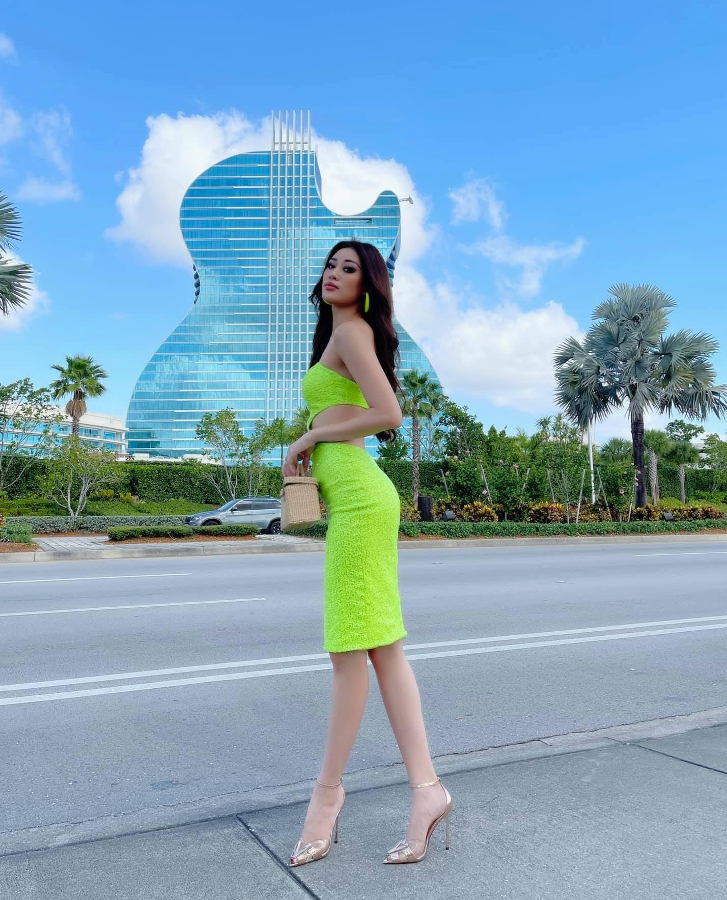 """Khánh Vân cập nhật tình hình tại Mỹ dự Miss Universe 2020:  Từ thần thái đến body """"nóng bỏng mắt"""" thế này chắc đối thủ cũng phải dè chừng - Ảnh 6."""