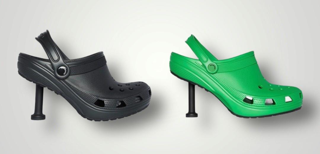 Giày Crocs cao gót mới ra mắt bị chê xấu - Ảnh 1.