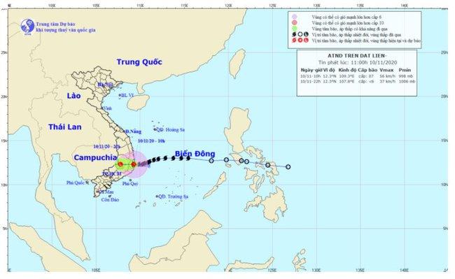 Bão số 12 suy yếu thành áp thấp nhiệt đới, bão Vamco hình thành gần biển Đông - Ảnh 1.