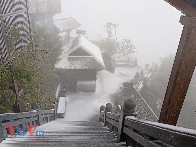 Mưa tuyết trắng đỉnh Fansipan trước thềm năm mới - Ảnh 8.