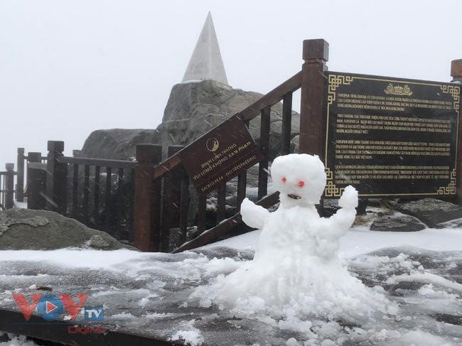 Mưa tuyết trắng đỉnh Fansipan trước thềm năm mới - Ảnh 2.