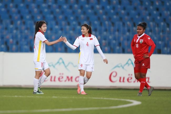 Đội tuyển nữ Việt Nam dội 'mưa gôn' 16 bàn vào lưới Maldives - Ảnh 1.
