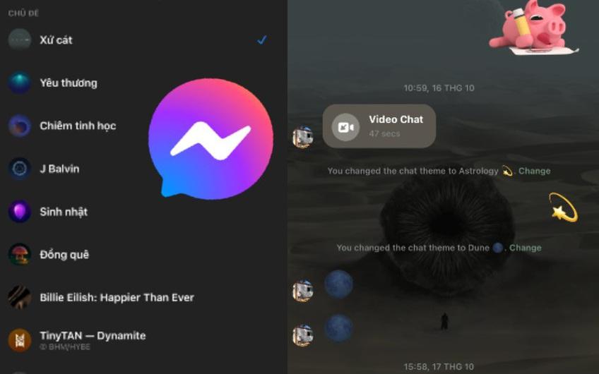 Messenger vừa tung ra theme mới lấy bối cảnh đỉnh nhất trong phim bom tấn 2021