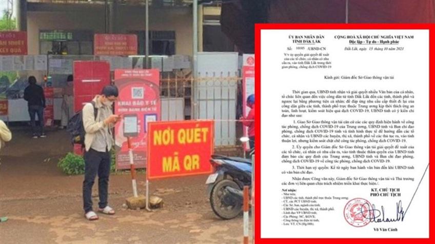 Vì sao Đắk Lắk yêu cầu dừng cấp giấy xác nhận ra vào tỉnh?