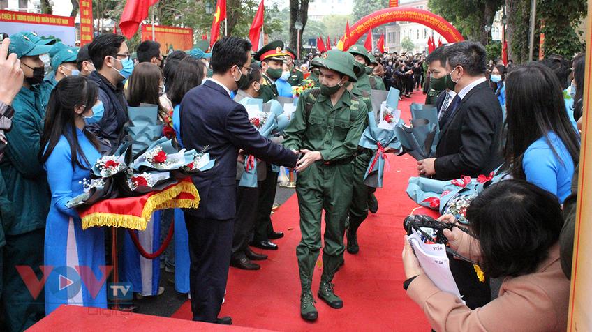 Hà Nội: Tân binh nô nức trong ngày hội tòng quân 2021
