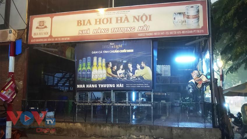 Hà Nội: Nhiều nhà hàng bia, quán bia đồng loạt 'tắt đèn', chợ cóc, chợ tạm vẫn còn hoạt động