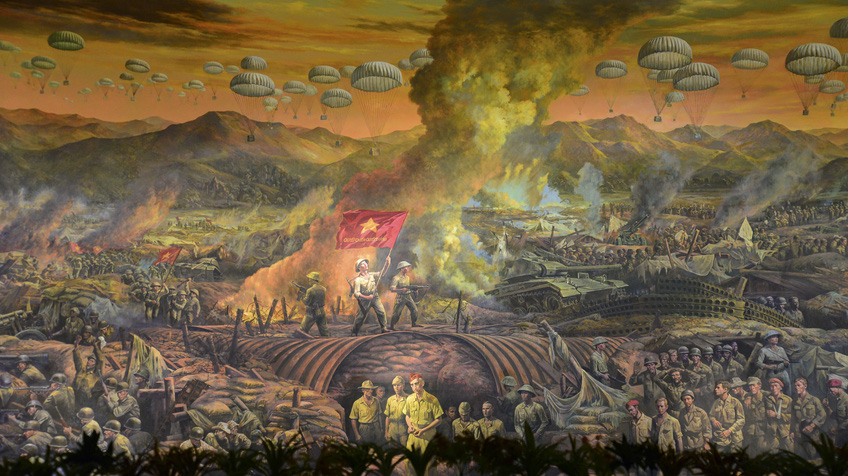 Bức tranh Panorama tái hiện toàn cảnh Chiến dịch Điện Biên Phủ