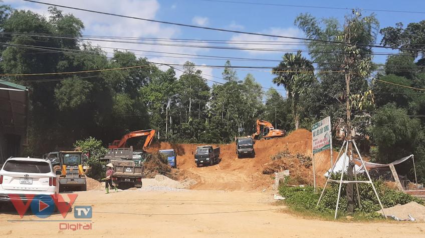 Dự án xây dựng hạ tầng khu đấu giá đất sử dụng 'đất tặc' để san lấp tạo mặt bằng