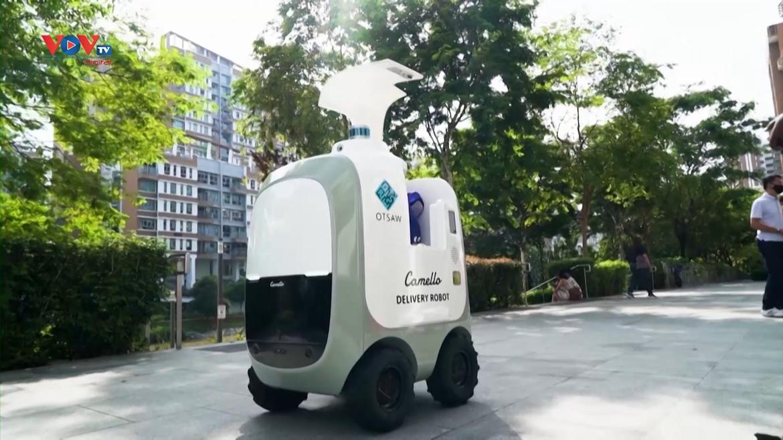 Singapore: Robot tự động giao hàng