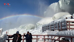 Thác nước Niagara đóng băng thu hút du khách