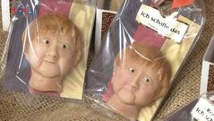 Những chiếc bánh hạnh nhân mang hình ảnh Thủ tướng Đức Angela Merkel