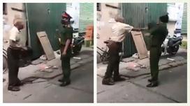 Hà Nội: Cụ ông đập mũ cối vào mặt cán bộ công an khi bị nhắc nhở đeo khẩu trang