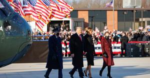Tổng thống Trump rời Nhà Trắng, chúc chính quyền của ông Joe Biden nhiều may mắn và thành công