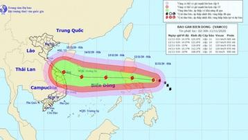 Bão Vamco gần biển Đông là cơn bão rất mạnh