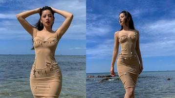 """Chi Pu lên đồ """"hiểm hóc"""" nhìn xa mà tưởng... không mặc gì, netizen xuýt xoa: """"Đăng cấp hở bạo đâu có thua Ngọc Trinh!"""""""