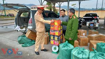 Thu giữ gần 500kg pháo nổ tại Yên Bái