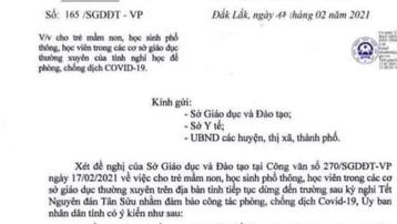 Đắk Lắk: Điều tra công văn giả mạo cho học sinh nghỉ học phòng dịch Covid-19