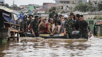 Indonesia: Lũ lụt nặng nề ở vùng thủ đô, hơn 1.000 người dân phải sơ tán