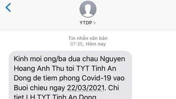 Phụ huynh bất ngờ nhận tin nhắn đưa con đi tiêm vaccine phòng Covid-19