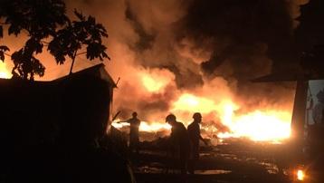 Tiền Giang: Cháy bãi phế liệu 'khủng' gây náo loạn khu dân cư