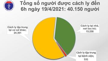 Sáng 19/4: Thêm 1 ca mắc COVID-19 tại Đà Nẵng, gần 80.000 người Việt Nam đã tiêm vaccine
