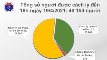Chiều 19/4: Thêm 6 ca mắc COVID-19 tại Tây Ninh và 3 địa phương khác
