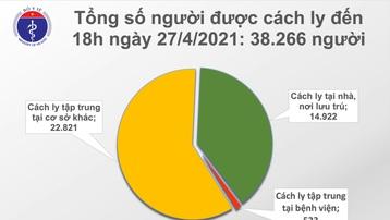 Chiều 27/4, Việt Nam có thêm 5 ca mắc mới COVID-19