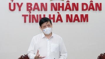 Bộ trưởng Bộ Y tế họp khẩn cấp với tỉnh Hà Nam, đề nghị lấy mẫu xét nghiệm ngay trong đêm