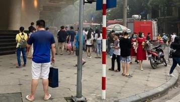 Kịp thời dập tắt đám cháy tại Tràng Tiền Plaza