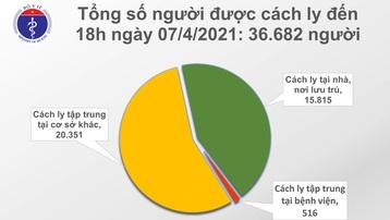 Chiều 7/4: Việt Nam có 11 ca mắc mới COVID-19 tại 5 tỉnh, thành phố