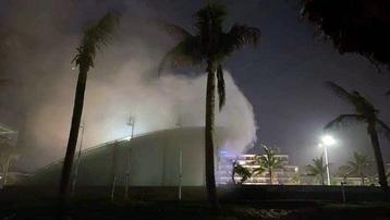 Phú Yên: Cháy lớn tại quán bar Sands Bay thuộc dự án Khu nghỉ dưỡng Rosa Alba Resort